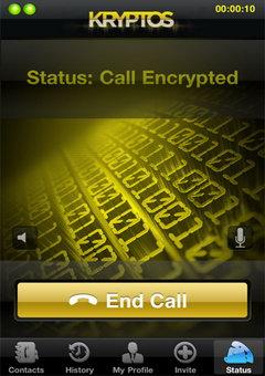 Kryptos mobile phone call encryption applet