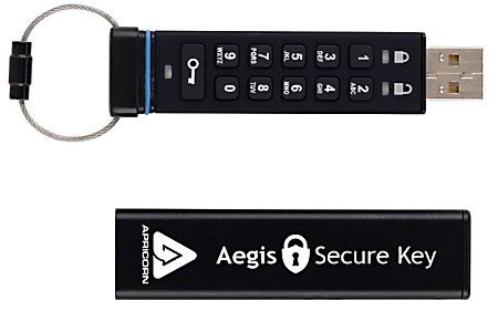 Aegis Secure Key USB AES hardware encryption