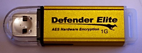 Kanguru Defender Elite AES encrypted flashdrive