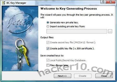 BCArchive encryption key manager