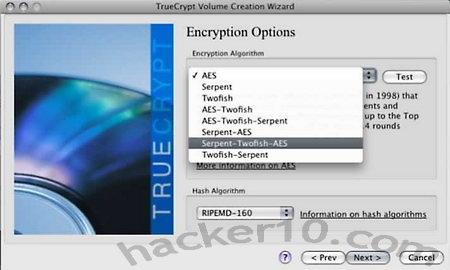 Truecrypt encryption algorithm