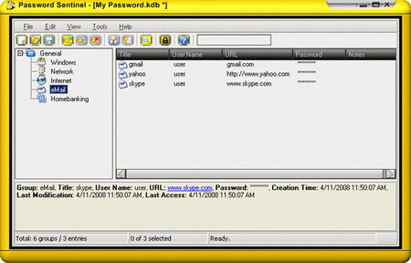 Free password manager Password Sentinel
