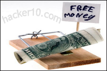 Free money online scam
