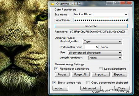Open source password generator CryptoNos