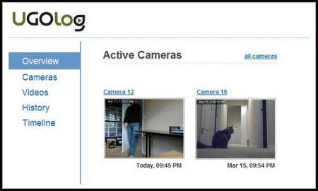 Remote webcam surveillance UGOlog