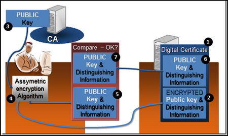 Diagram digital certificate encryption