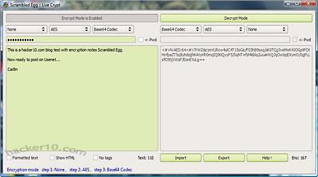 Scrambled-Egg text encryption software