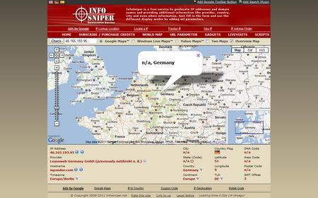 InfoSniper find out computer IP address