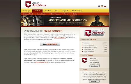 Zoner antivirus online scanner
