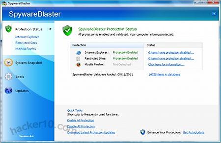 Spywareblaster stops adaware