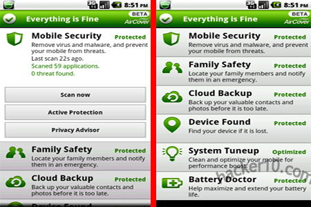 AirCover mobile phone security software