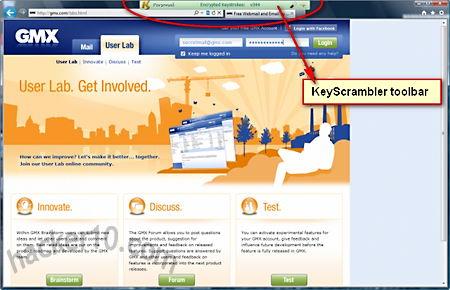KeyScrambler toolbar
