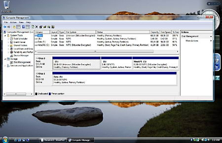 Hard drive Bitlocker encryption
