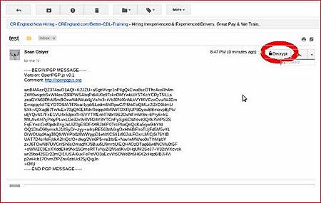 MyMail-Crypt GPG Chrome Gmail