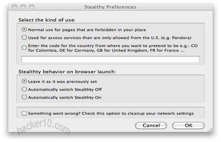 Stealthy Firefox addon
