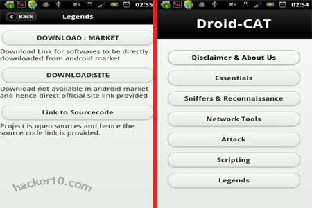 Droidcat Android PEN testing app