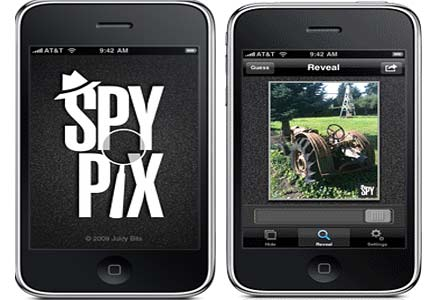 iPhone steganography app SpyPix