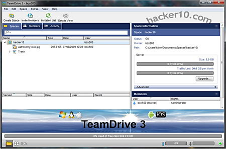 Encrypted cloud storage TeamDrive