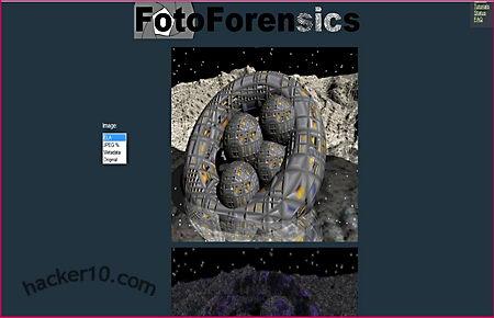 Image computer forensics Fotoforensics