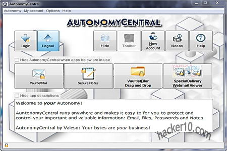 Autonomy Central Valeso encrypted email