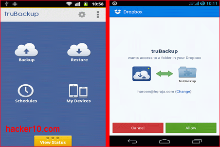 truBackup Android encrypted backup