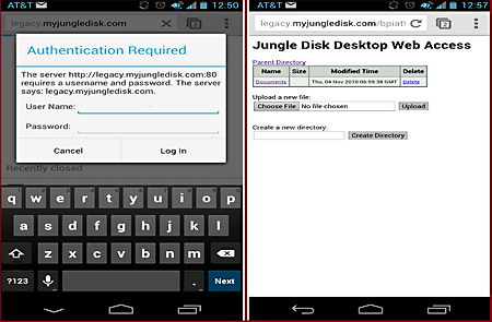 JungleDisk cloud encryption Android client