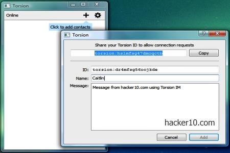 Tor proxy instant messenger Torsion
