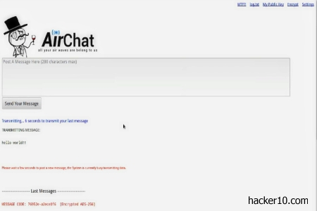 AirChat encrypted ham communication