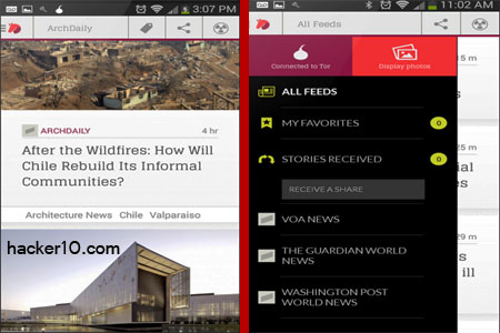 Courier Secure News Reader Android