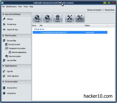 CyberSafe Top Secret encryption software