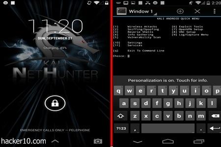 Kali NetHunter hacking for Nexus mobile