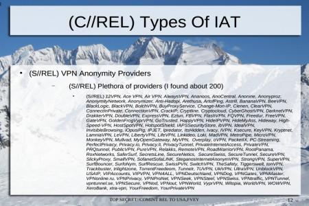 NSA VPN providers