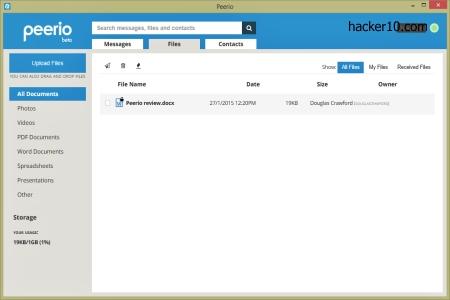 encrypted file storage Peerio