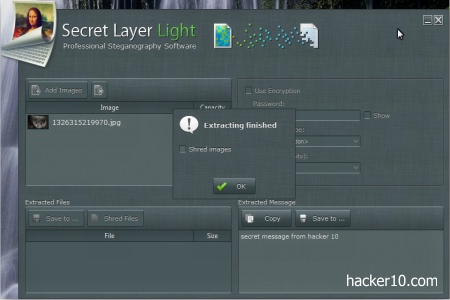 Steganography software Secret Layer