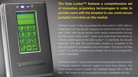 Datalocker encrypted drive